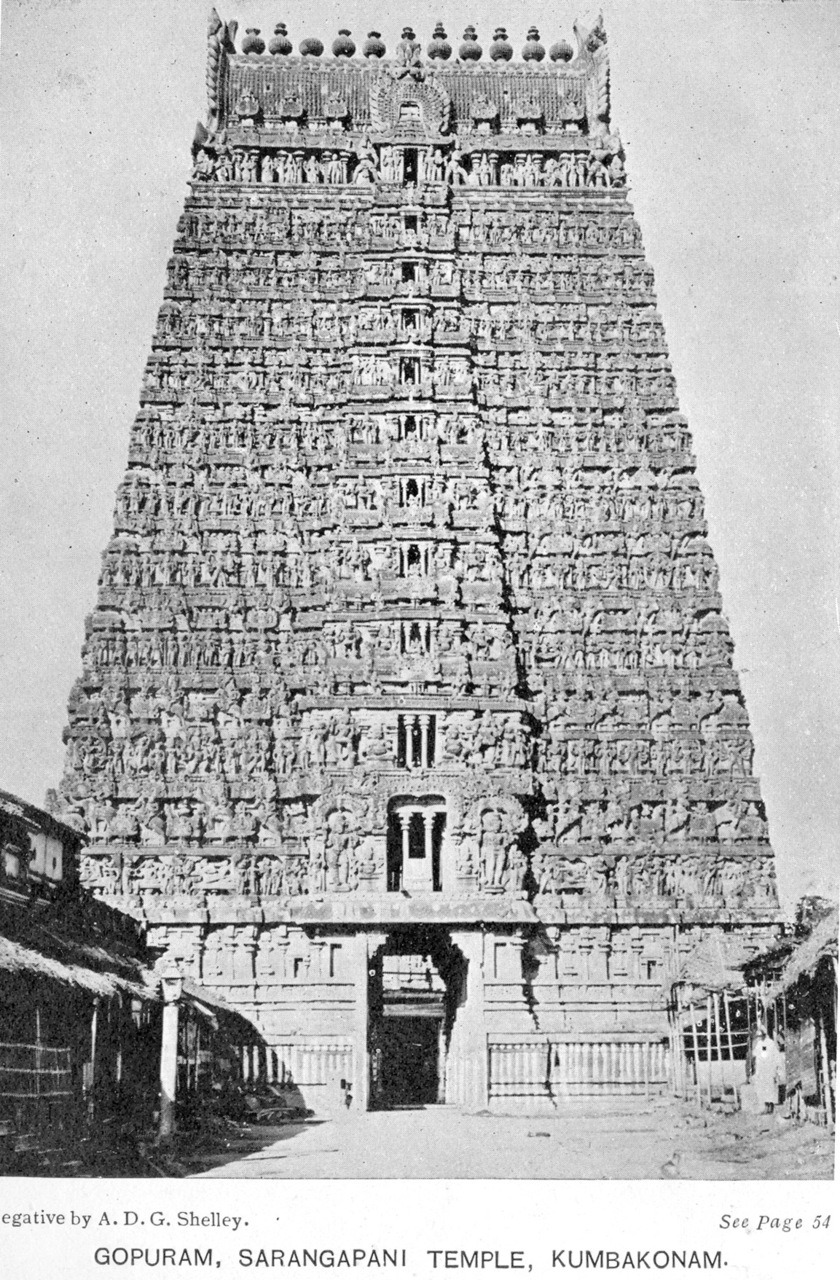 The gopuram of the Sarangapani Temple in Kumbakonam