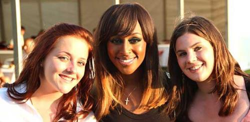 Hope and Abby with Alexandra Burke!