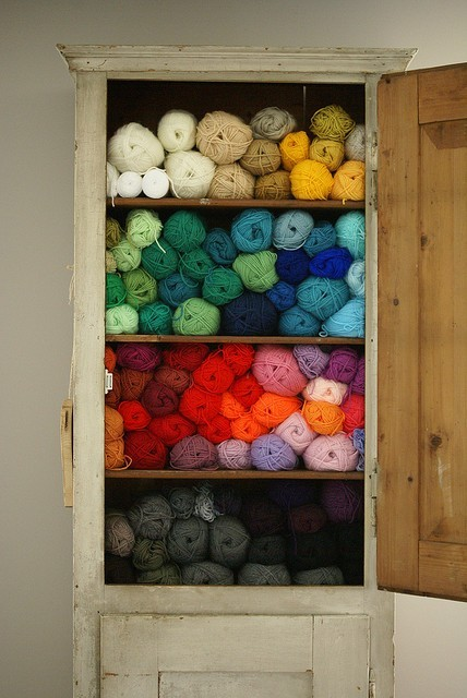 riotprrl:  swoon!  someday…  Gods… I probably have that much yarn, but not nearly that much organization.