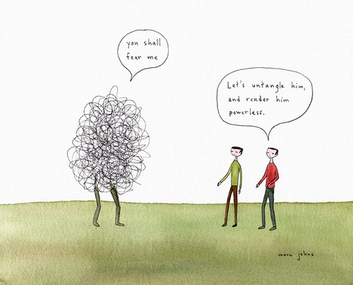 panaceum:  Let's untangle him by Marc Johns on Flickr.