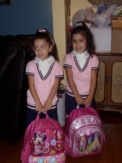 My adorable nieces, Ava and Ria. Off to their first day of Pre-K.