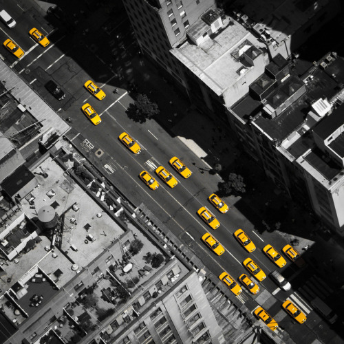 nikkitan:  New York City, Yellow Cabs by Thomas Richter