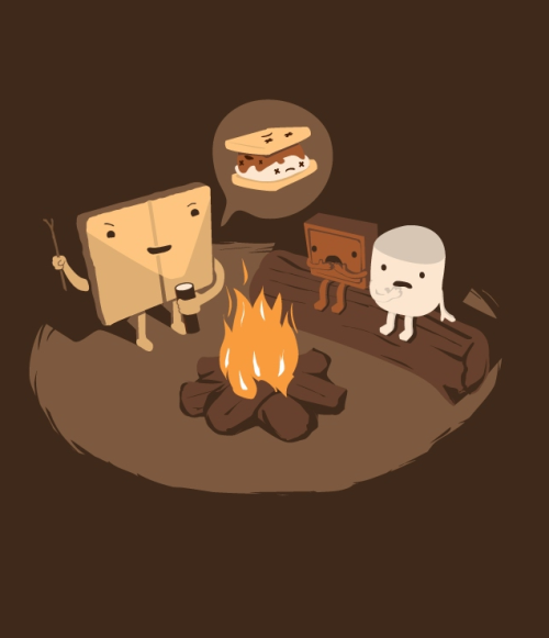 threadless:  Tell Us S'more by nathanwpyle at gmail.com is up for scoring in the Threadless Loves Horror III Challenge.   BONFIRESSSSSSSSSS! FALLS COMIN' YA'LL!