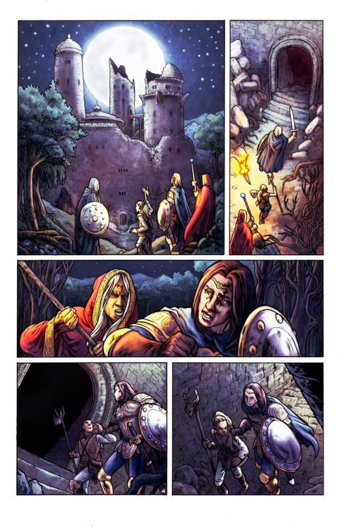 Worlds of Dungeons & Dragons #6, page 14. Pencils, 2008. Devil's Due. Color: Alejandro Torres. Script: Paul Storrie.