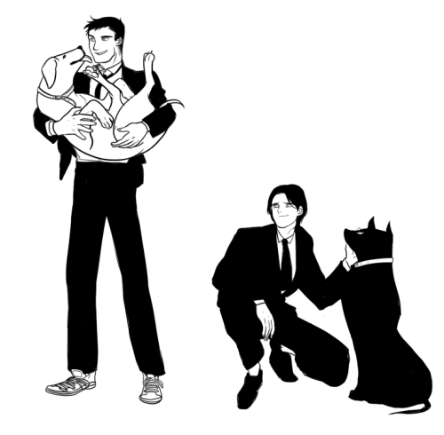 retdis:  Tim with Ace and Conner with Krypto :p