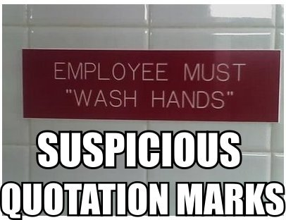 That sign in the bathroom…it's only for the employees right?