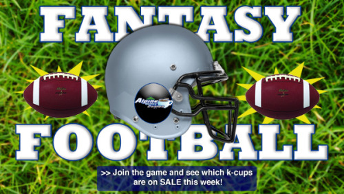 You love Keurig Coffee and K-Cups? So do we! Celebrate Football season with K-Cup Fantasy Football 10 pack sales only at Alpine Valley Coffee!