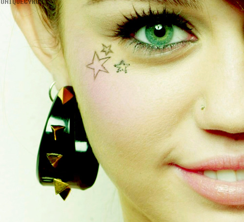 what if Miley Cyrus had face tattoos… think about it.