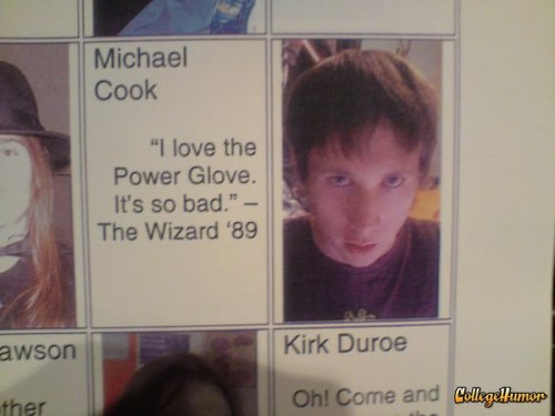 Odd Yearbook Quote It's like he's posing for the quote.