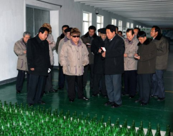KJI looking at the absence of Coca Cola… soon to be rectified.  kimjongillookingatthings:  looking at glass bottles