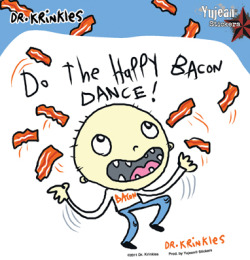 Happy Bacon Dance Sticker Yeah, bacon is worth dancing about. (but only if it's crispy)