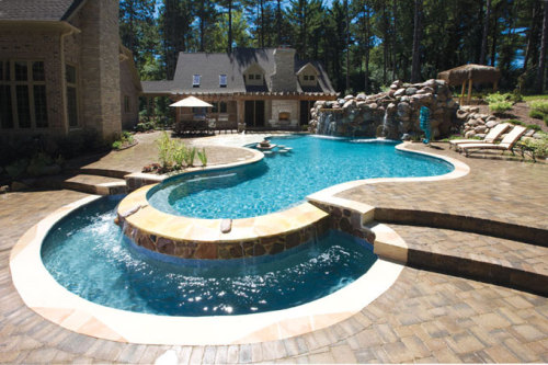 yourpool:  Nice use of curves on this pool  Great share, love the 3 tiers, great pool decking too.