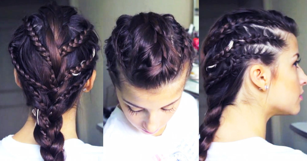 beautylish:  Check out the tutorial for this chic rockstar braid look!