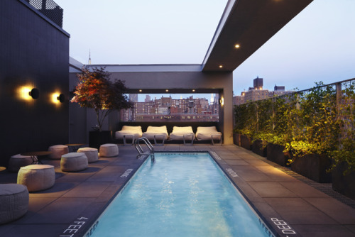 New York's New Hotel Americano - a cozy pool