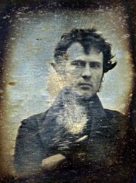 one of the earliest known photographs - 1839. And my, isn't he dashing!
