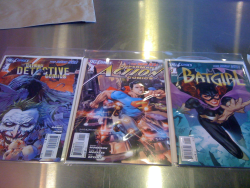 New comics came out today. These are what I got. I haven't been able to get everything I wanted, but this is a start: Detective Comics (vol. 2) #1 Action Comics (vol. 2) #1 Batgirl (vol. 4) #1