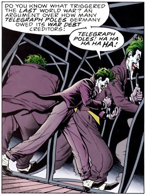 momentofmoore:  'Telegraph Poles!' Batman: The Killing Joke (1988), artist: Brian Bolland
