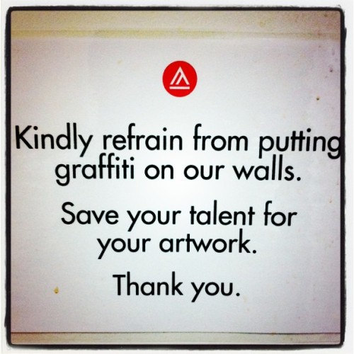 jzakubrick:  Lol. #artschool #bathroom (Taken with instagram)