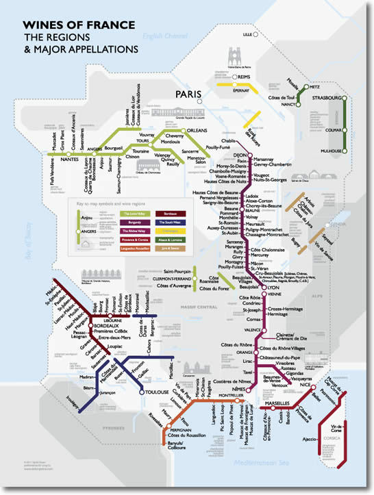 ilikeprivacy:  Interesting way to visualise the wine regions of france