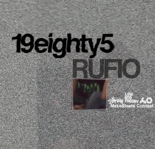 "Rufio - 19Eighty5  Entry for Stussy x Low End Theory x Teenage Engineering Make Beats Contest. Support by clicking on photo and making the track a ""Favorite"" www.rufiosbeats.com"