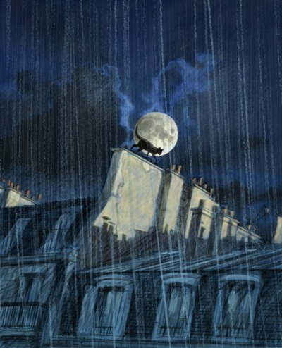 toelle:  La pluie illustration by Guy Servais