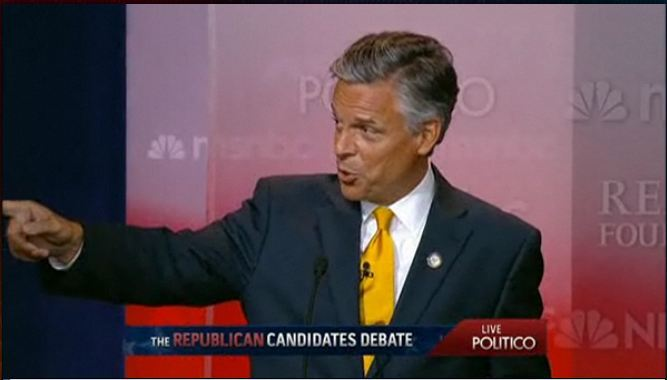jvbrewer:  Huntsman to Romney and Perry: Pay attention to me. My job creation record is better that yours.