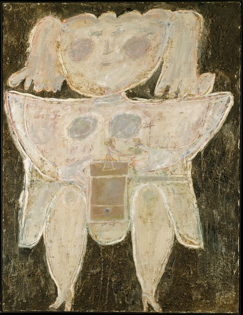 cavetocanvas:  Woman Grinding Coffee - Jean Dubuffet, 1945   Goodmorning