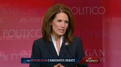 Bachmann just preached the virtues of learning history. Heh.