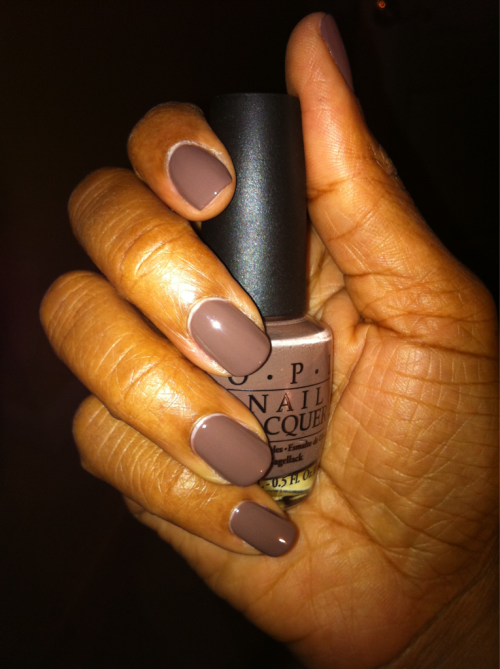 OPI Over The Taupe. Shade: A creamy browned taupe. Season: Fall 2008 Finish: Creme Top Coat: CND Air Dry