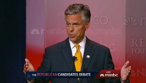 Jon Huntsman is sounding presidential for the first time.