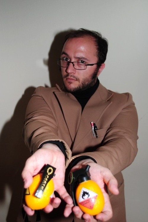 Me as Cave Johnson. By request. ;) Featuring Lemons for burning down houses. Photos by JadeKat