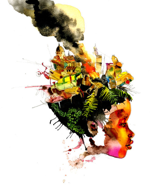 """Haitian Girl"" by David Choe"