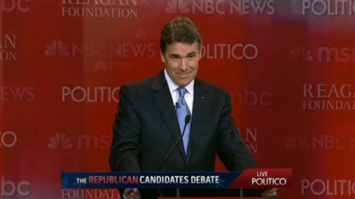 "From shortformblog:  When the moderator mentioned that Rick Perry has presided over a record 234 executions during his tenure as governor, the audience burst into applause. Wow.  Seriously, WTF?! I'm not intrinsically opposed to the death penalty (though I don't understand why people who don't trust the government to provide them w/ health care, education, or public services trust it to decide which people to kill — death panels, anyone?). But the death of people — guilty or innocent — is not something to be celebrated. You know who cheers the death of people? People like Osama Bin Laden. There, I said it. The people that cheered (and Rick Perry who seemed pleased) are no better than the people who cheered on 9/11. In both cases, those cheering the dead thought they ""deserved"" it — and were willing to let some innocents die for a greater ""principle."" In my mind, there is no natural distinction. People who revel in the death of others — even the guilty — are people who enjoy killing. Such are not Christians, and they're not even healthy human beings. They are one snap moment away from becoming Timothy McVeigh, Jared Lee Loughner, Anders Behring Breivik, or any other mass murderer. Even a Bin Laden. I should underscore that I'm not one of those people (who I respect and admire) that believe the death penalty should be abolished. While I would have no problem at all w/ it being abolished, I can concede that it may be an appropriate punishment in some, probably very limited, circumstances. But by nature the death penalty is something we do shamefully. That's why it happens in the dark of night, behind closed door, and never in public. We may believe the people in the chair or gurney deserve death, but we are ashamed to participate in their death. That's how it should be. If you want to cheer on an execution, I suggest you go back in time to the Dark Ages."