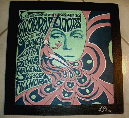 "fuckyeahpsychedelics:  ""The Doors Poster Painting"" by leoctz"