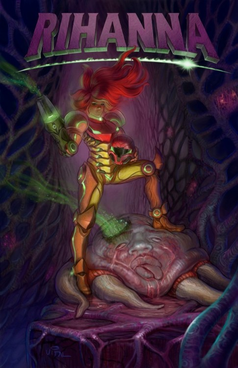Rhianna vs. Metroid — another masterpiece mash-up from the infamous Jesse Vital. Oh snap!— lemme find out that's RiRi straight blastin' Breezy… mad attention to detail! Throw Vital some love by hitting-up his site: http://v1tal.com/