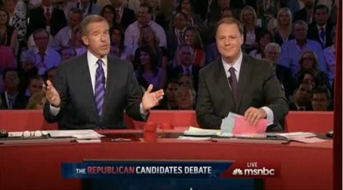 And with a slightly awkward farewell from Brian Williams, this debate is finished. We'll have some postgame wrap-up in a bit; in the meantime, you can catch up on our Twitter liveblog, with the hashtag #ReaganDebate. This has been a blast; thanks for following along with us! —Seth @ SFB