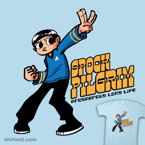 shirtoid:  Spock Pilgrim available at RedBubble