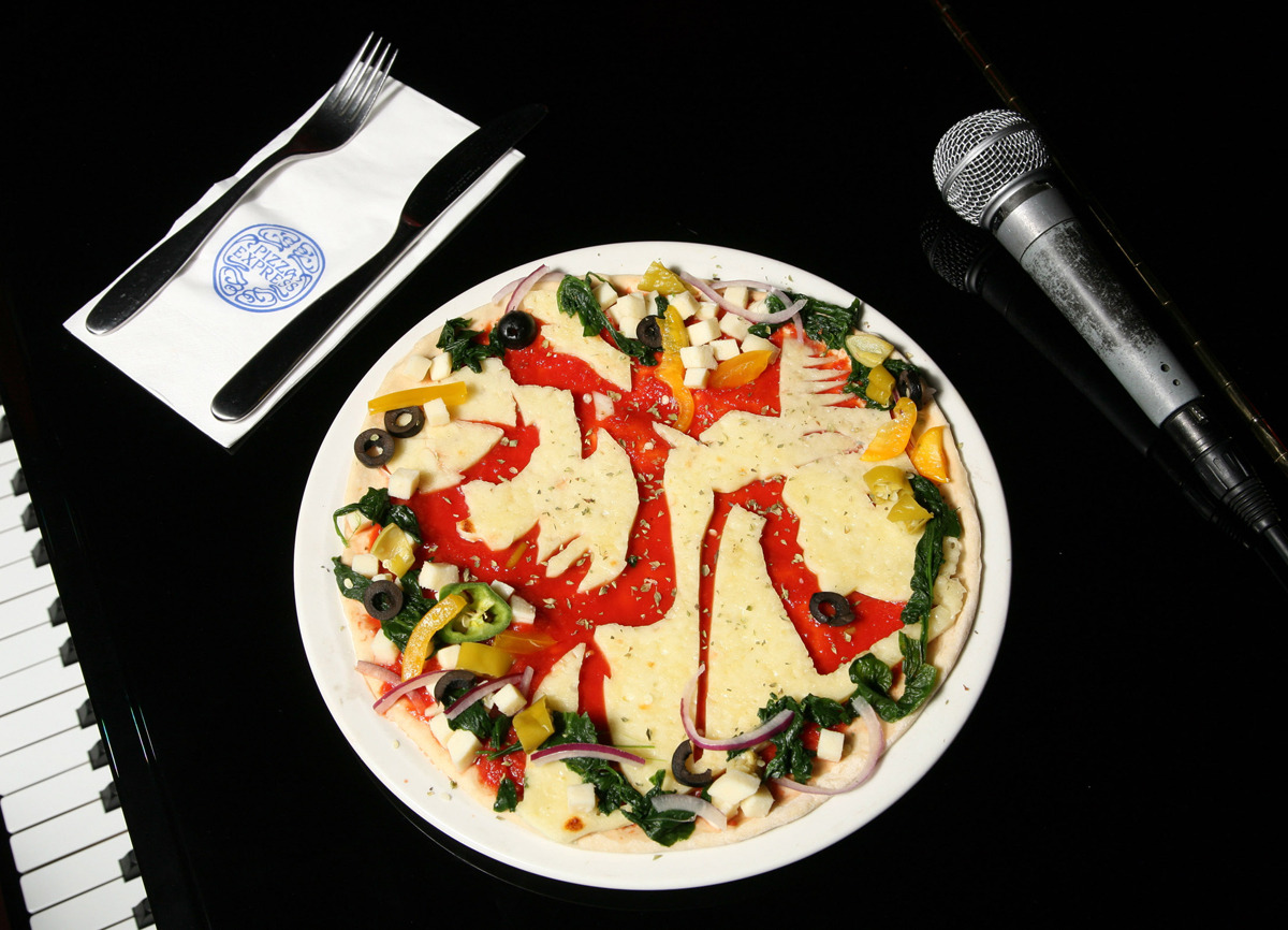 pizzashares:  5 Iconic Album Covers Recreated As Pizzas : Jeff Buckley - Grace