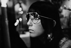 1967, Cher wearing Sonny Bono's aviator glasses. Image by © Arnaud de Rosnay/Condé Nast Archive/Corbis Read more…