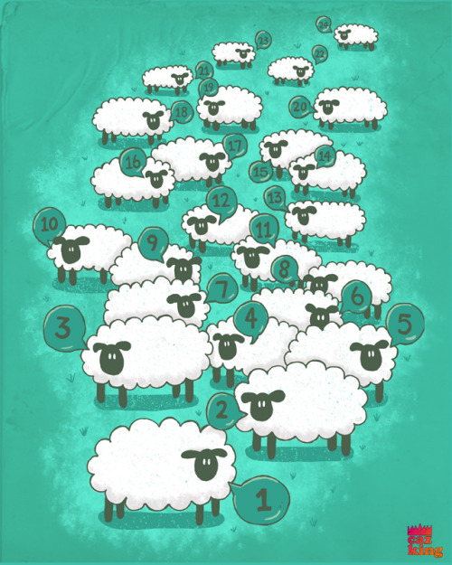 counting sheep - now up for scoring at threadless.