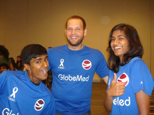 umkcglobemed:  Here's a photo of a few of our officers having a great time — as always — at the meeting. If you weren't able to make it and want to learn more about our chapter, please follow us on Twitter @GlobeMedatUMKC and like us on Facebook here: https://www.facebook.com/globemedatUMKC