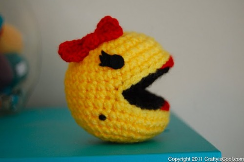 knitspirit:  Ms Pac-Man free pattern