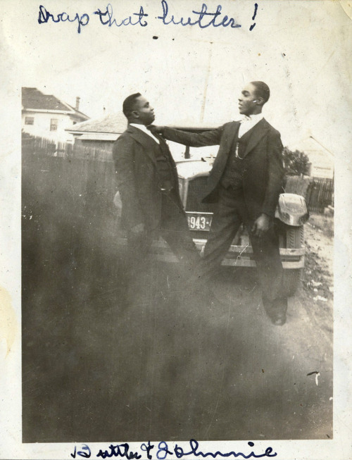 """Drop That Butler!"" Butler & Johnnie, 1920's-30's, Texas [Ross Family Album] ©WaheedPhotoArchive, 2011"