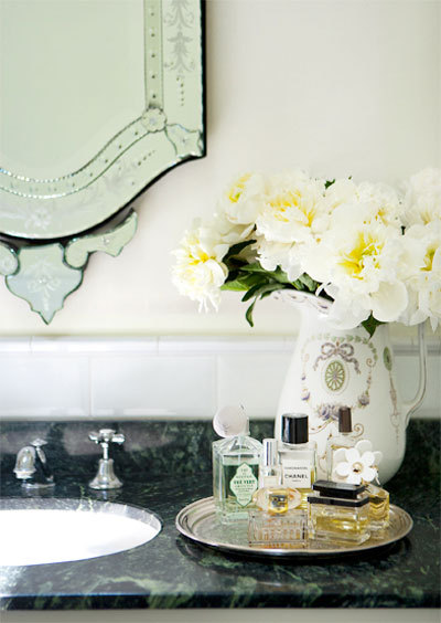 | ♕ |  vanity tray  | by {this is glamorous} | via heartbeatoz | simplypix