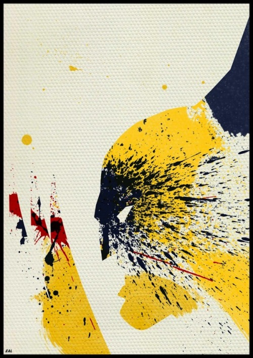 Paint Splattered Superheroes by http://www.noveir.com/