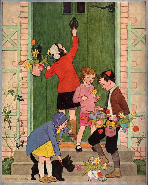 Woman's World magazine by cluttershop on Flickr.Cover illustration, May 1932, by Miriam Story Hurford.