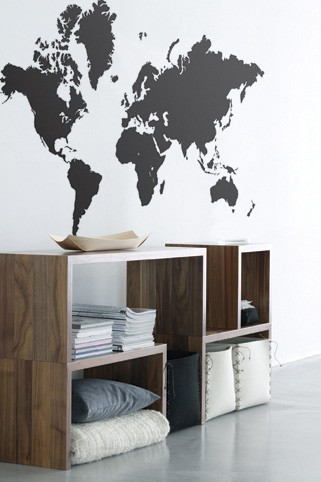 Graphic maps and beautiful-looking storage? Why, of course I'd love this! Love, Nik