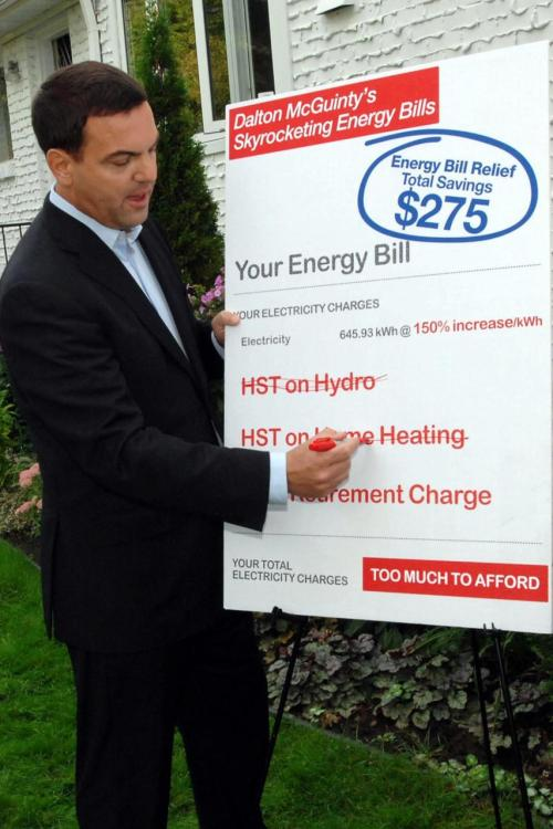 I wonder what exactly Tim Hudak means when he says he'll remove the HST from our hydro and home heating bills. The HST includes a federal portion of the tax, so will Tim Hudak get federal approval to remove the HST from hydro and heating, or will he only remove the provincial portion of the tax? Alternatively, is he planning on removing the HST and having the province fit the bill for the federal portion of the tax? Anyone know the answer to this?