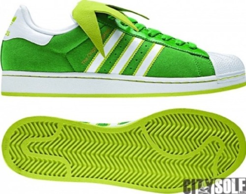 laughingsquid:  Kermit the Frog adidas Superstar II Sneakers