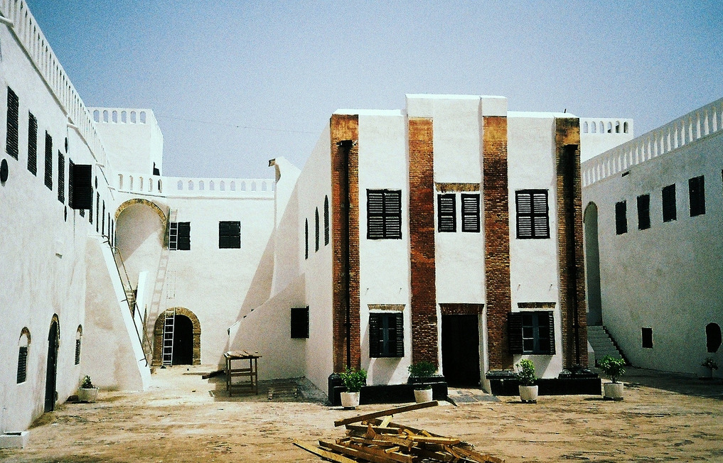Historic Ghana: The African-American ConnectionThe courtyard of the slave castle at Elmina, Central  Region